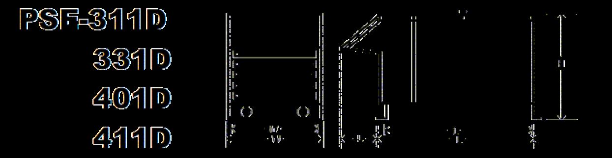 311D-411D Specs Diagram