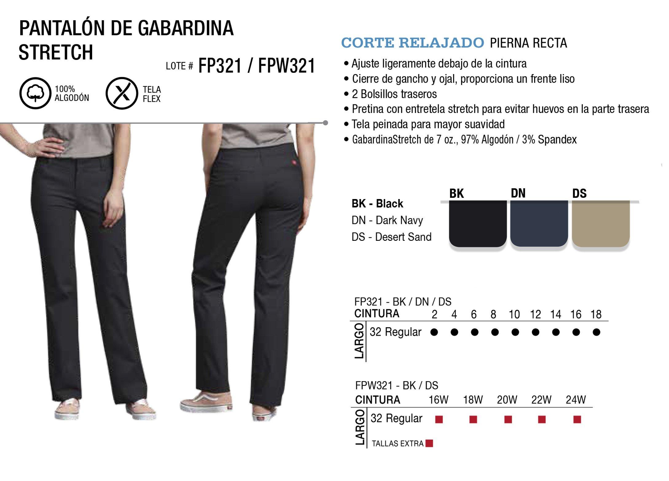 Pantalón de Gabardina Stretch. Corte Relajado. FP321/FPW321.