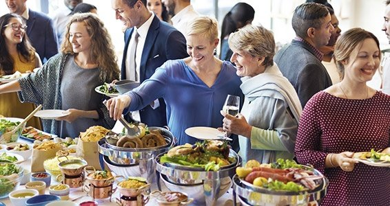Diversity People Enjoy Buffet Party