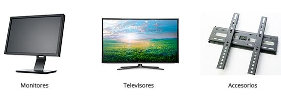 Monitores, Televisores y accesorios