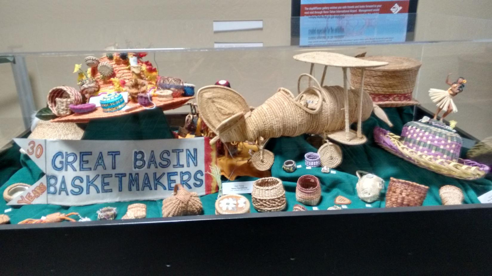 30 years of basket making  exhibit Reno-Tahoe Airport