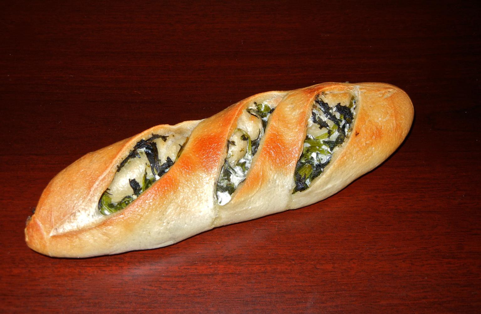 Broccoli Rabe with Mozzarella Bread