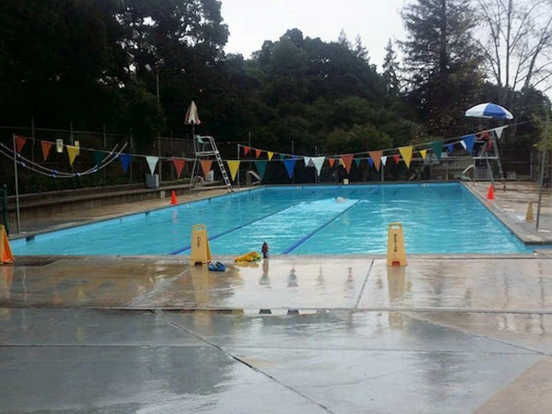 In 1917, the City of Oakland Parks Department purchased 12 acres of land along the Sausal Creek to be used as a park site. In 1929, Lions Pool was constructed in the park and subsequently remodeled in 1959. The modern type Dimond Recreation Center was opened in September 1957 in the wooded ravine adjacent to the Lions Pool site.