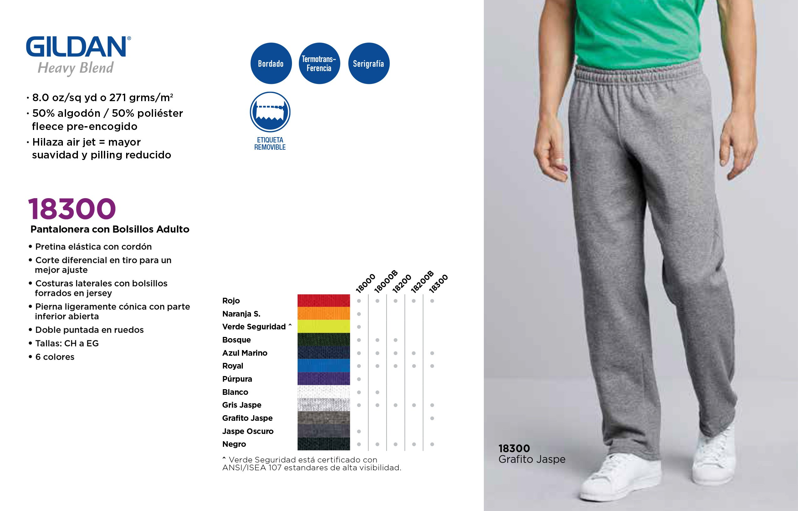 Pantalonera Con Bolsillos Adulto 18300