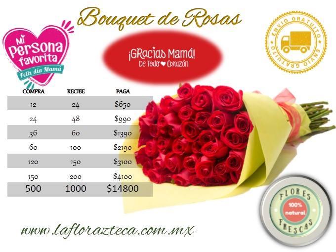Promociones Especiales Bouquet de Rosas