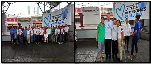 04/08/18 En el marco del día mundial contra la trata de Personas, el día de hoy se realizó Feria de  información en el parque central Miguel Hidalgo.