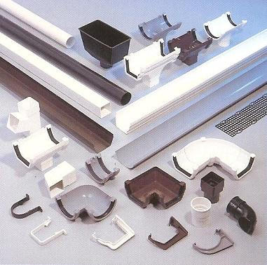 Examples of Downspouts, Elbows, and Accessories