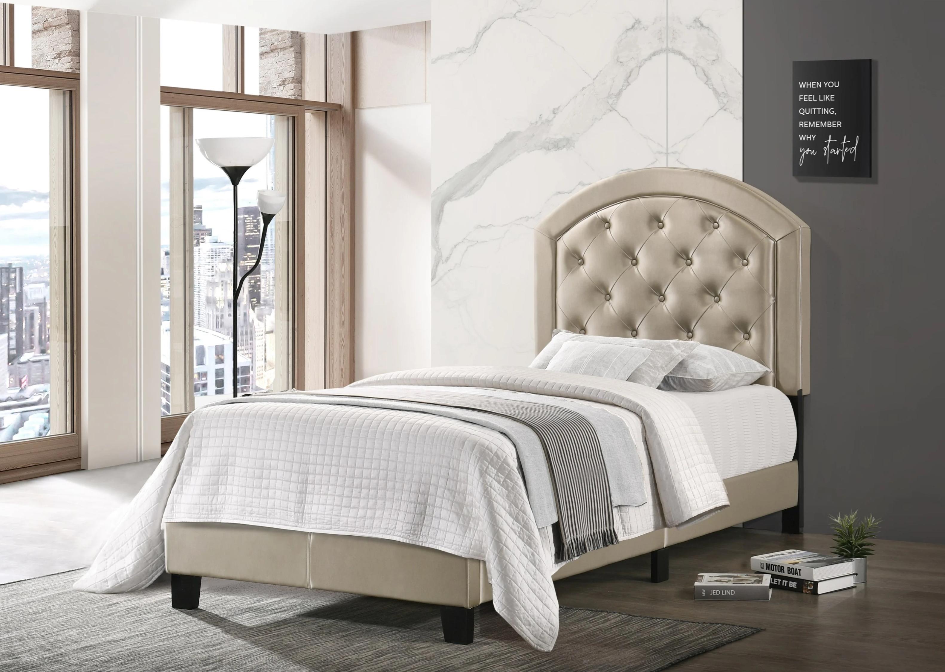 6259 Gaby Gold Platform Bed Twin