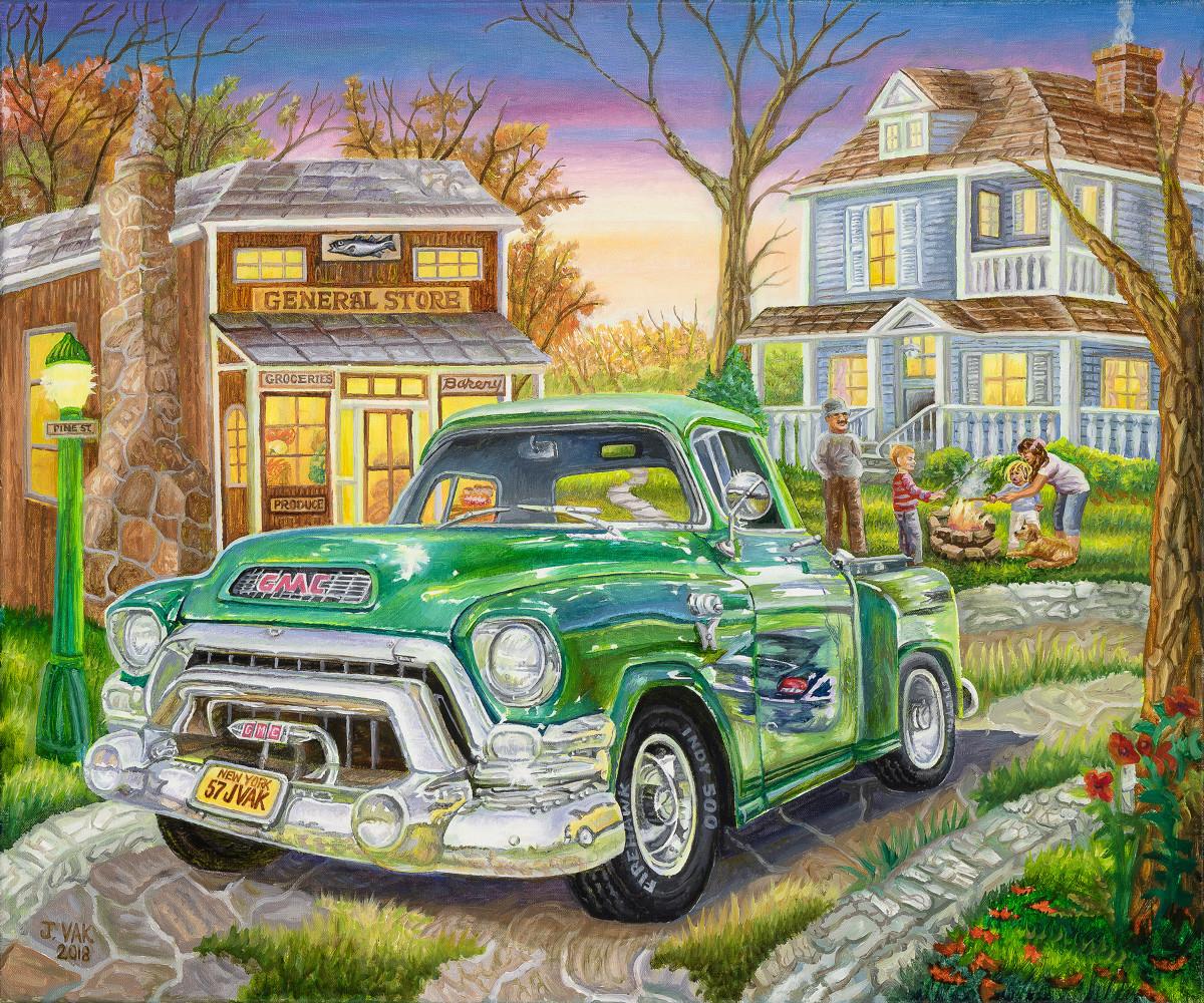 1955 GMC Truck 20 X 24 Original Oil      $2500      2018