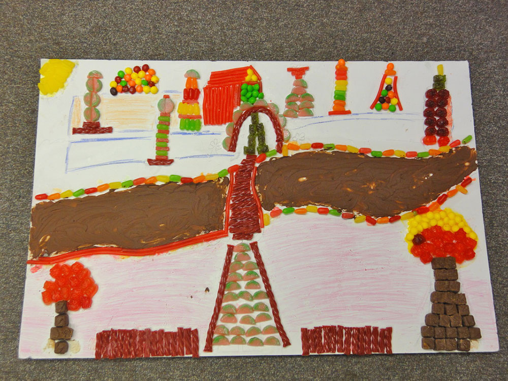 Artwork With Candies and Chocolates
