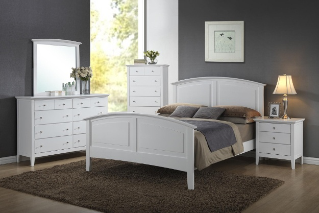 Details About White 3 Piece Storage Drawers Twin Bed Box: Furniture Clearance Center