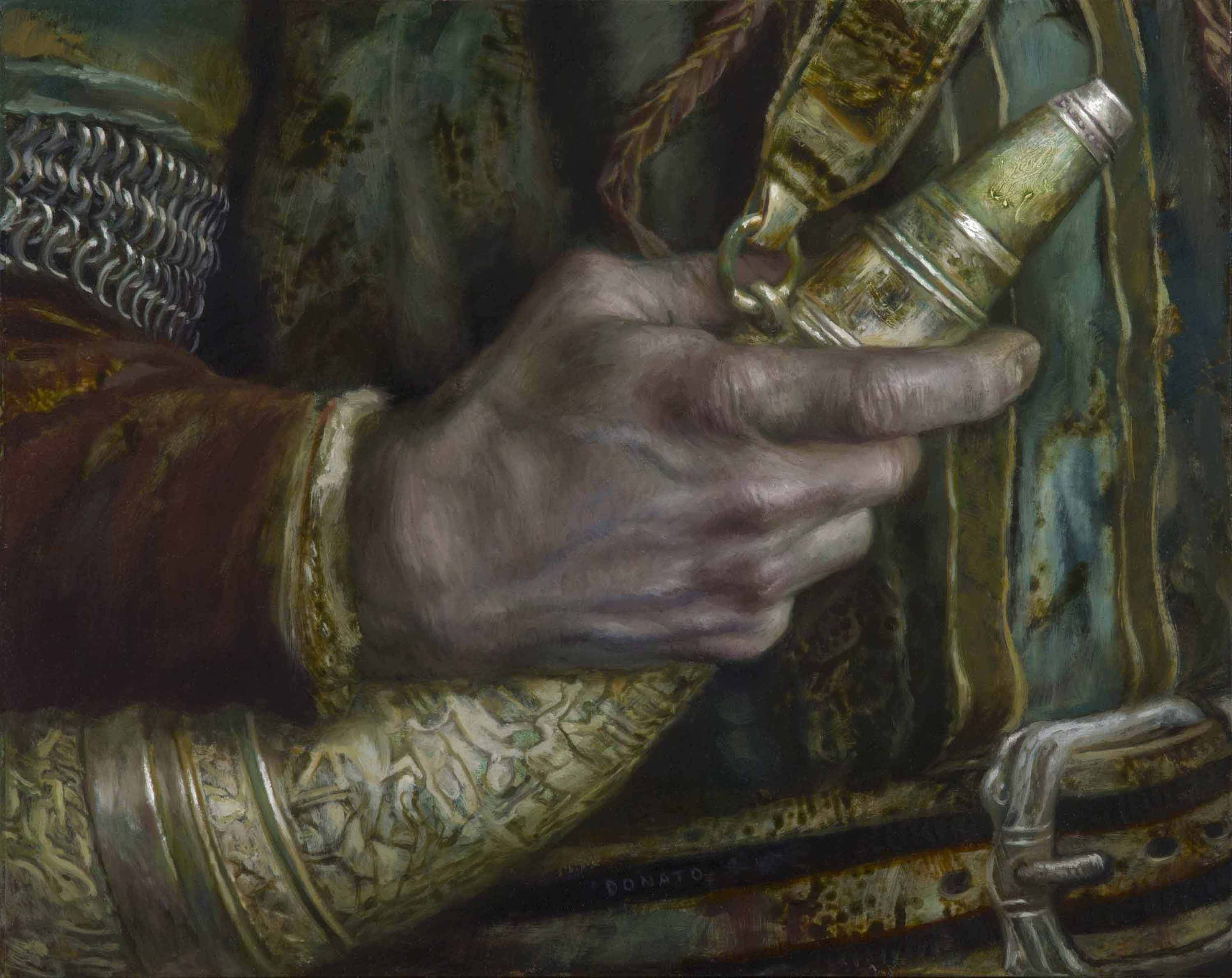 "The Horn of Gondor 11"" x 14""  Oil on Panel  2015 collection of David Broyles"