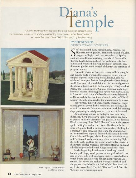 August 2007 Dollhouse Miniatures Magazine
