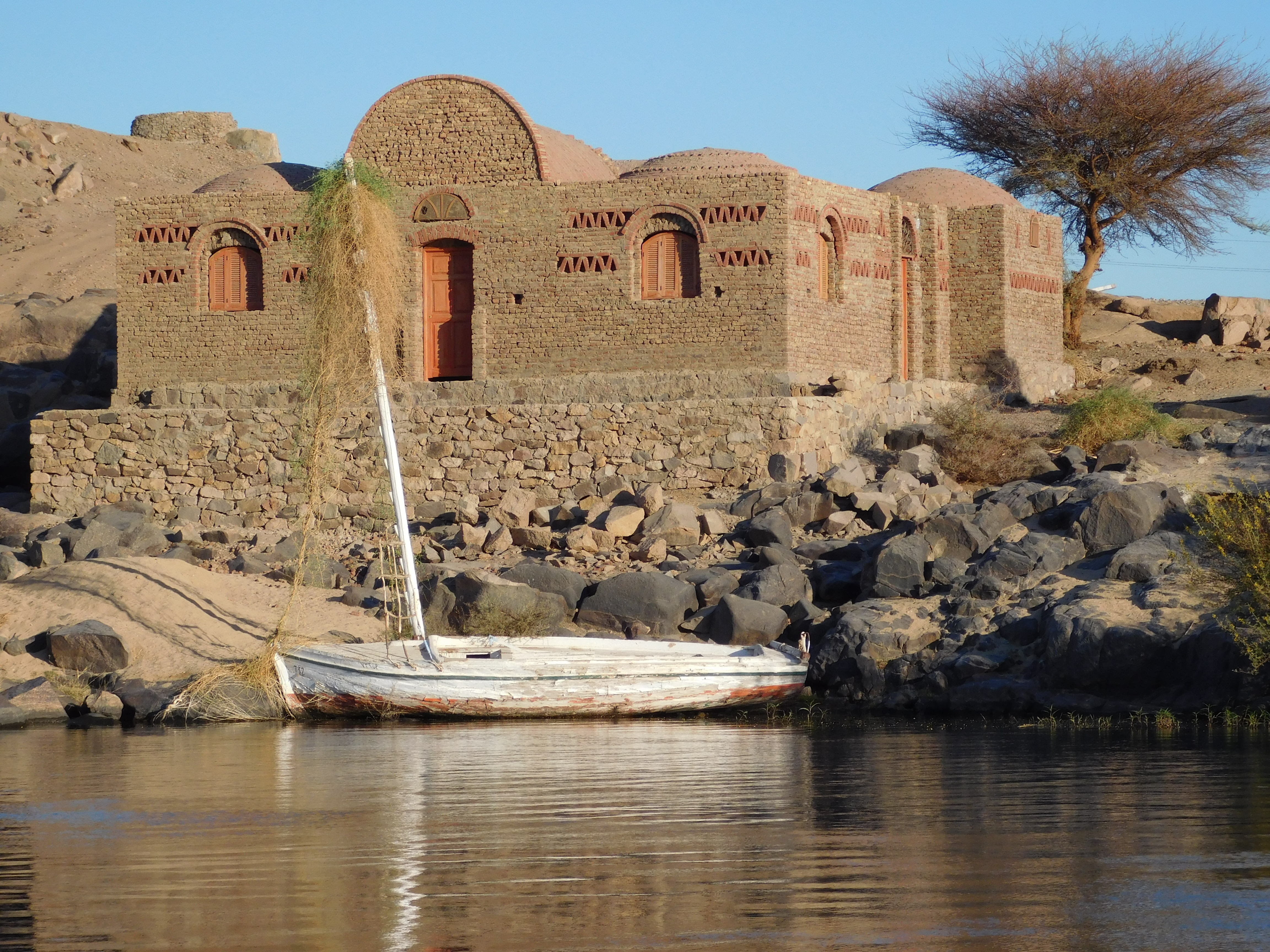 Temple on the Shore of the Nile River