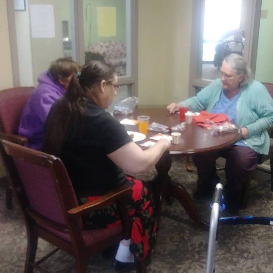 Home Care Patients Playing Bingo