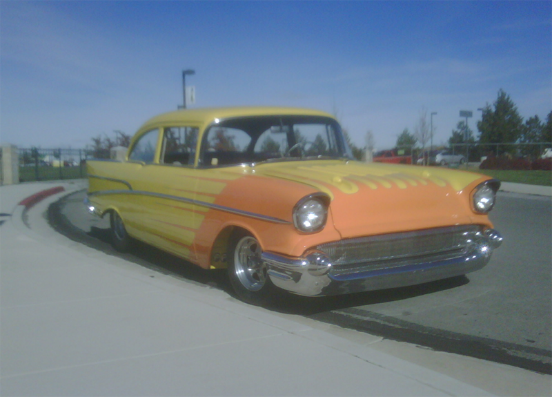 Yellow Chevy with Orange Streaks||||