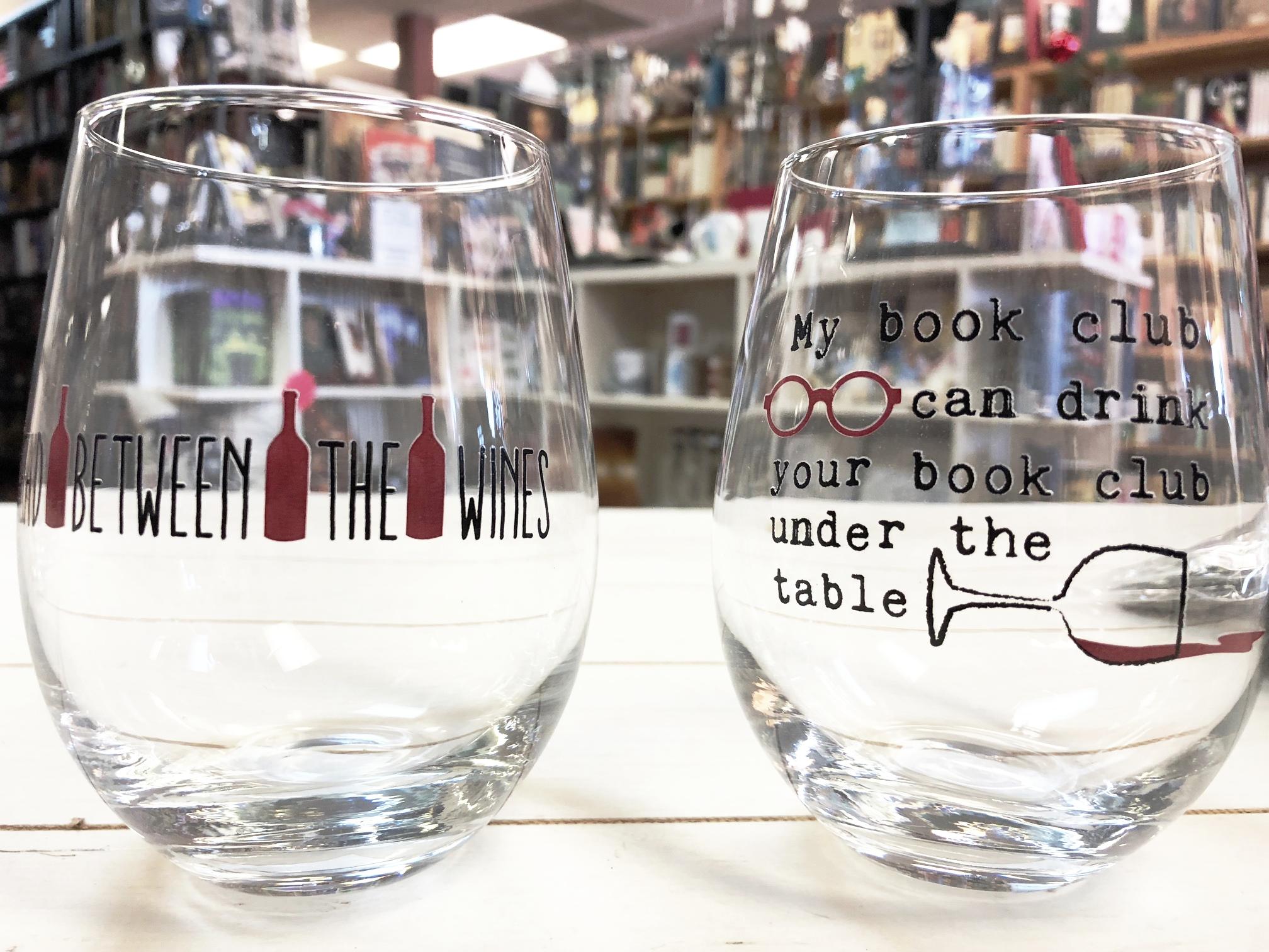 Pair of Book Club Wine Glasses