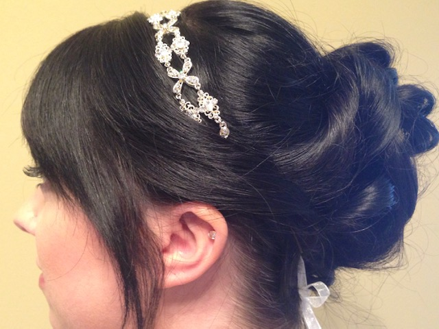 Updo Hairstyle With Tiara