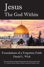 """Jesus, the God Within"" book cover, showing a magnificent gold-domed house of worship"