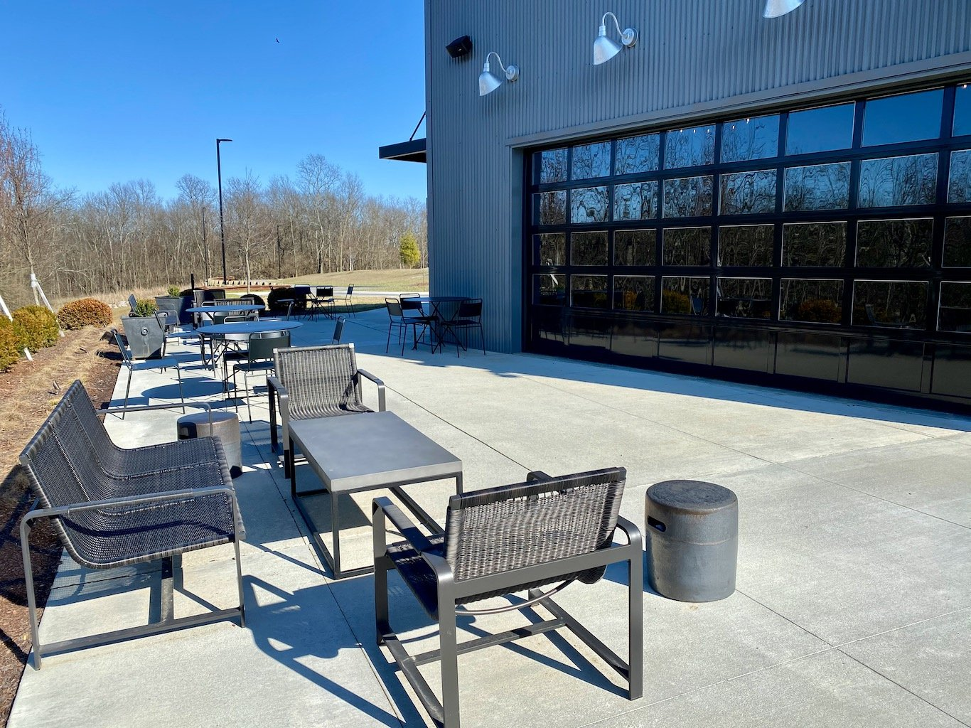 Side patio -Bulleit Distillery - Bulleit Visitor Experience