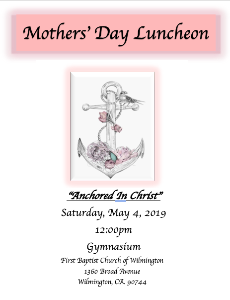 MOTHER'S DAY LUNCHEON 2019