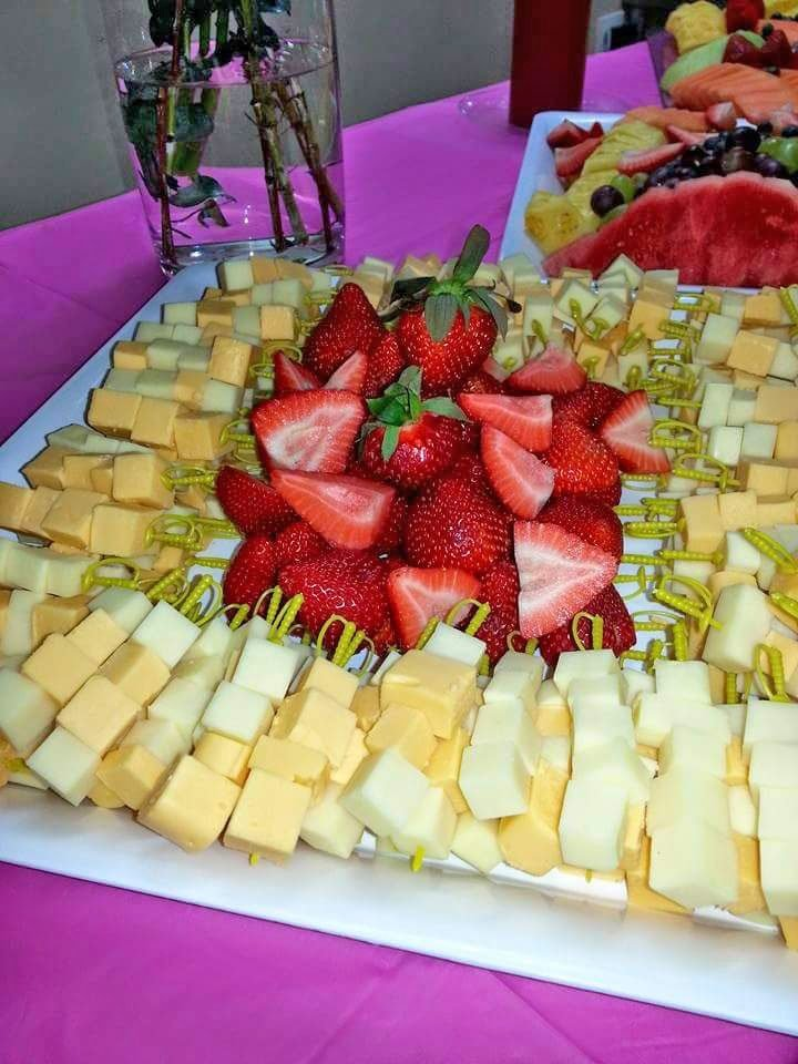 Strawberry and Cheese Platter
