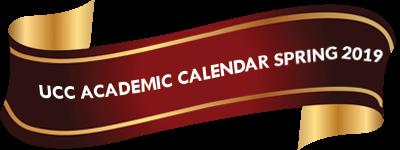 UCC Academic calendar Spring 2019