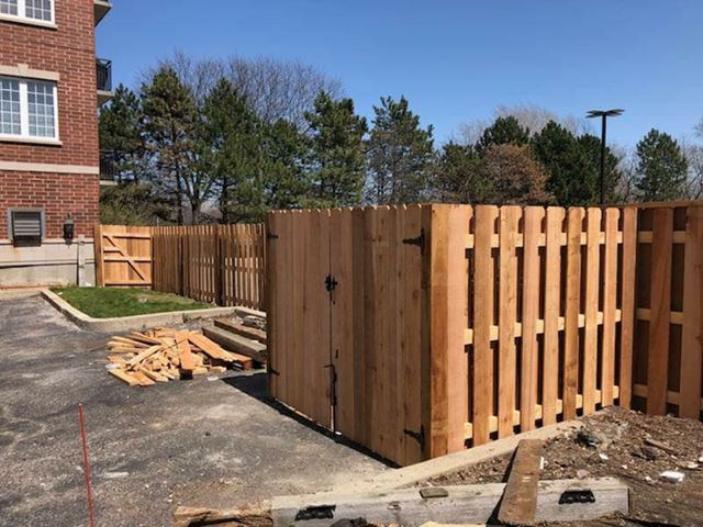 Wood Dumpster Enclosure