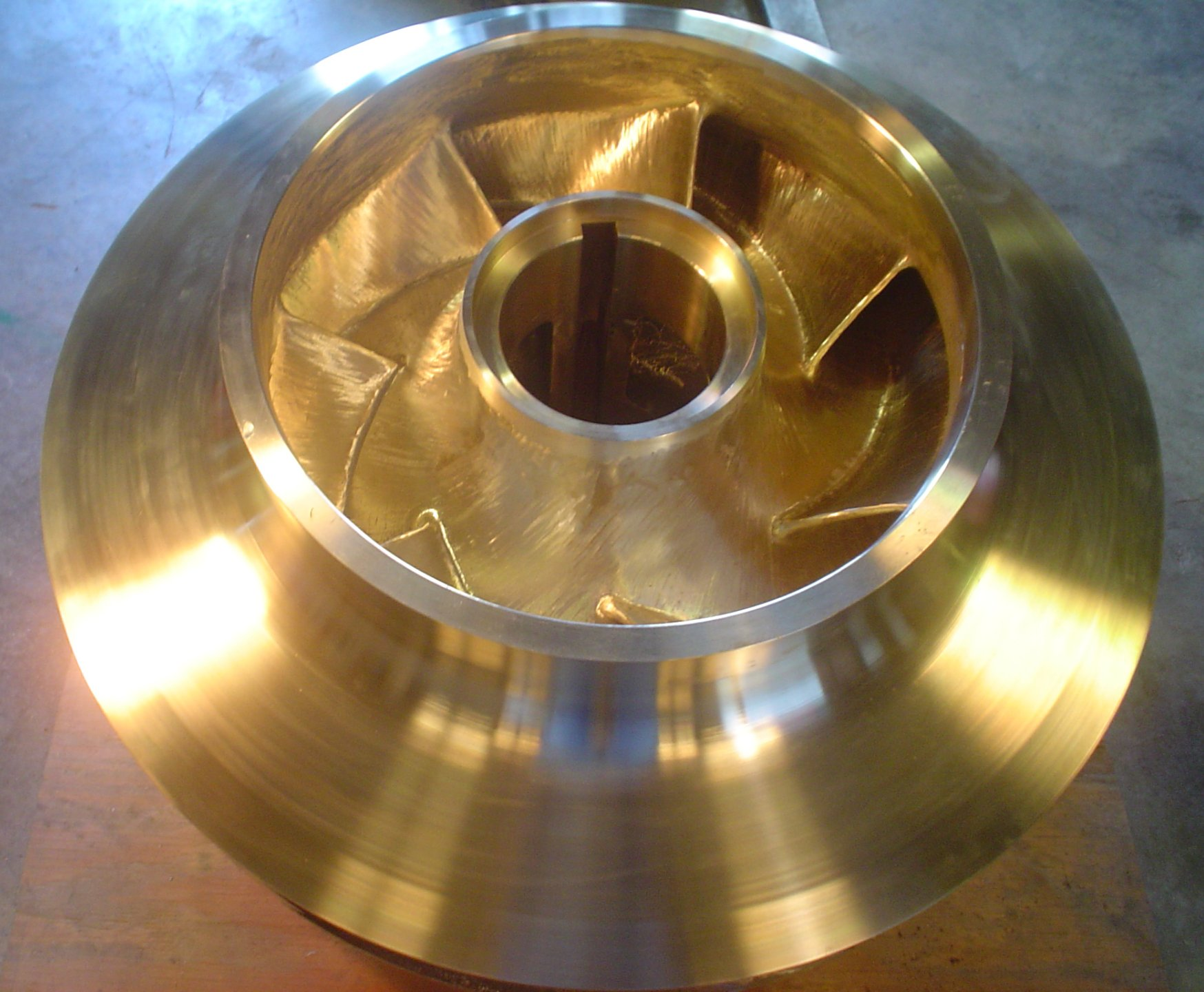 "43"" Dia. Double Suction Impeller in C95500 Brz"
