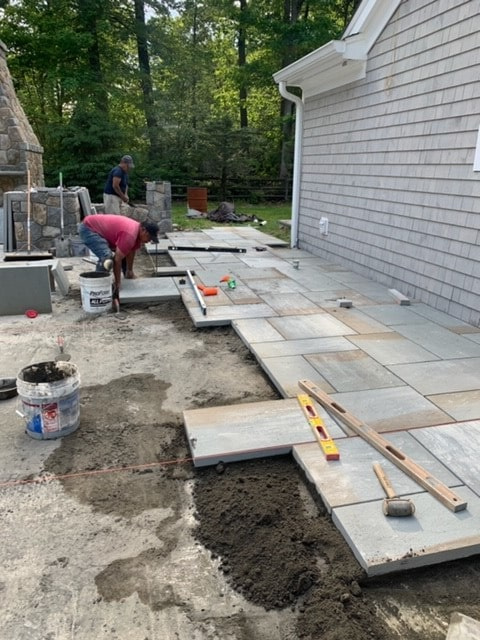 Ongoing Patio Installation