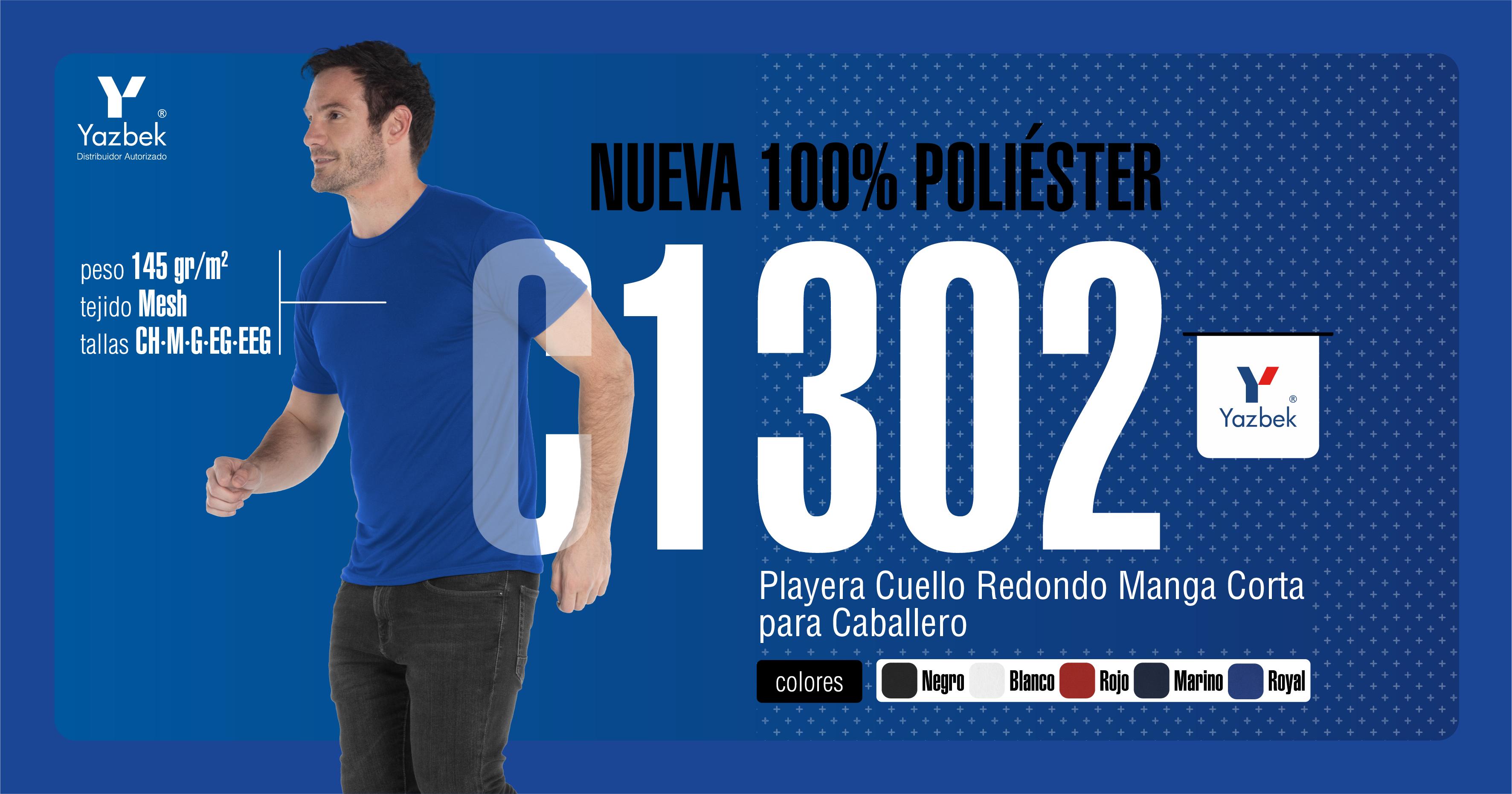 PLAYERA DRY FIT DEPORTIVA 100% POLIESTER (MESH).  CUELLO REDONDO CABALLERO