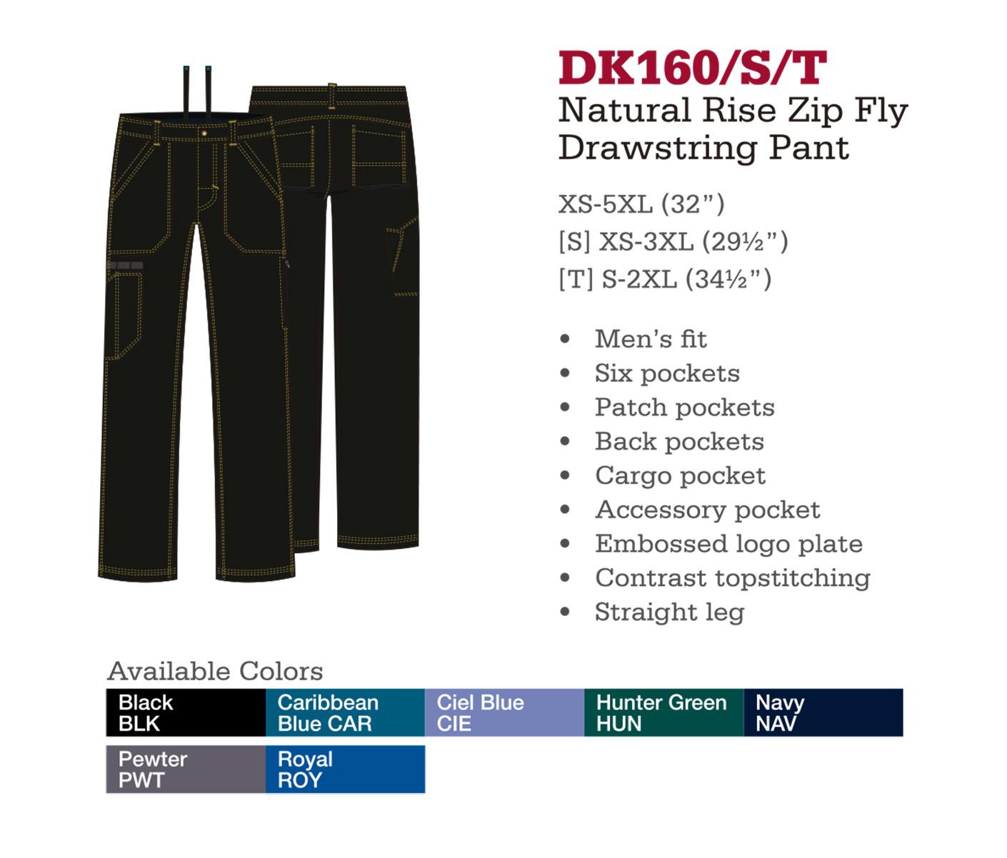 Pantalón de Cordones con Cremallera de Levantado Natural. DK160/S/T.