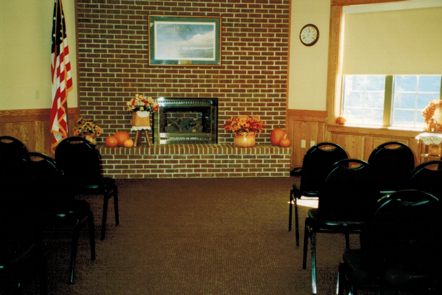 Sprague Room with fall pumpkin decorations