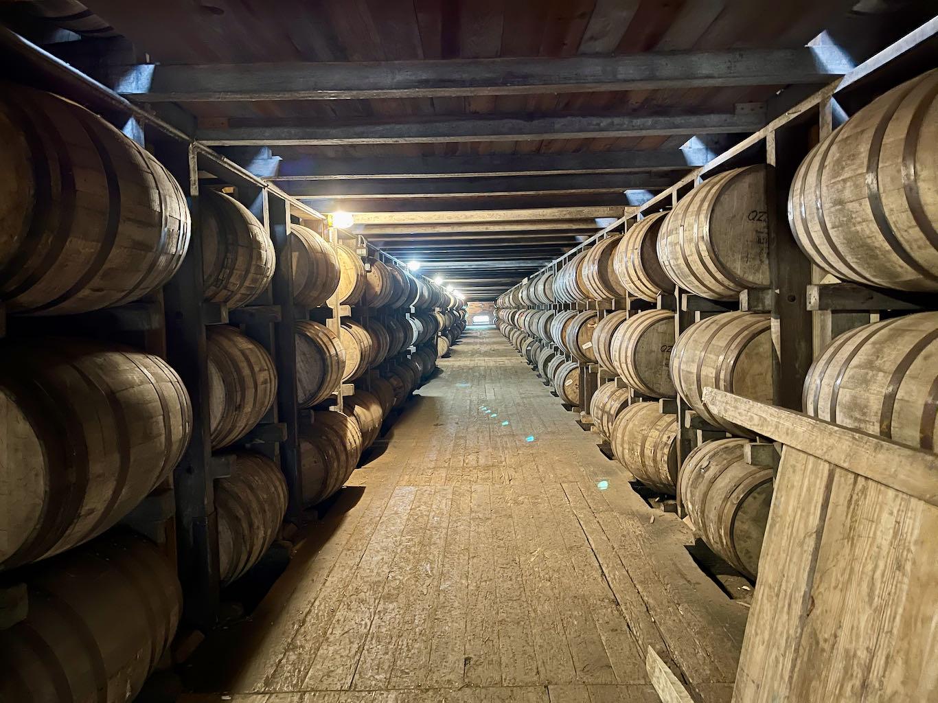 Barrels in Rickhouse - Green River Distilling Co