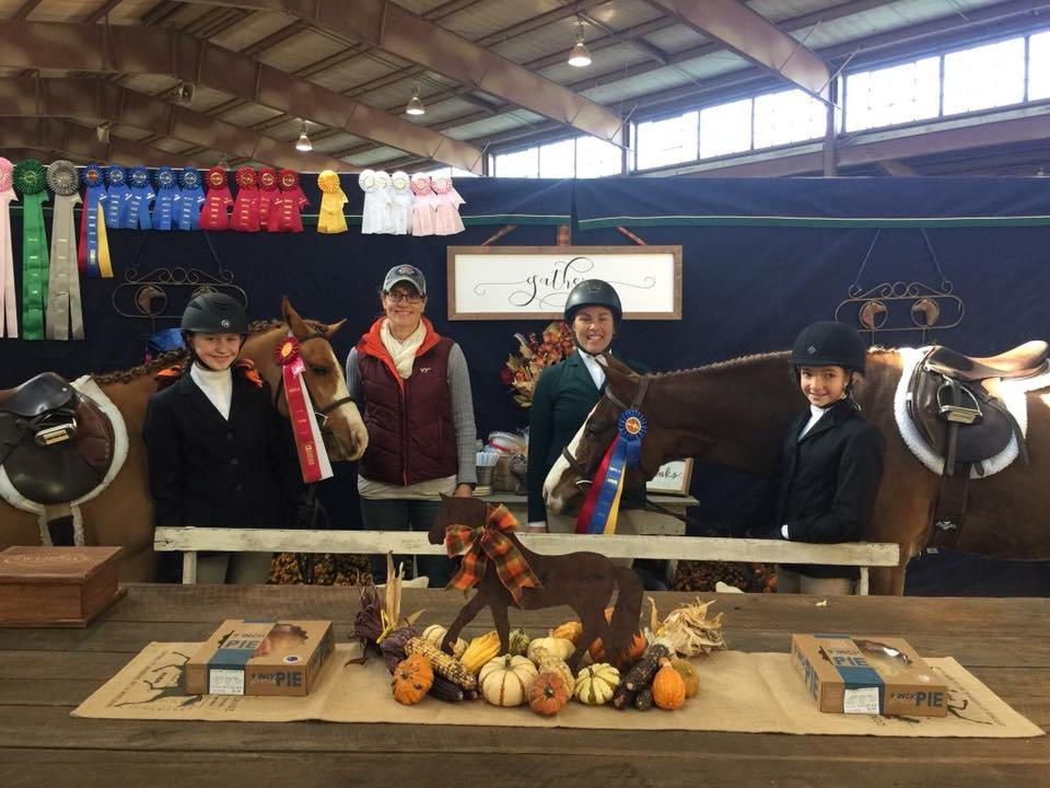 Hunter Pleasure Pony Champion: Get Your Island On Owner/Rider: Marley McGlaughlin Reserve Champion: Bugsy Malone Owner/Rider: Anna Grace Boteler