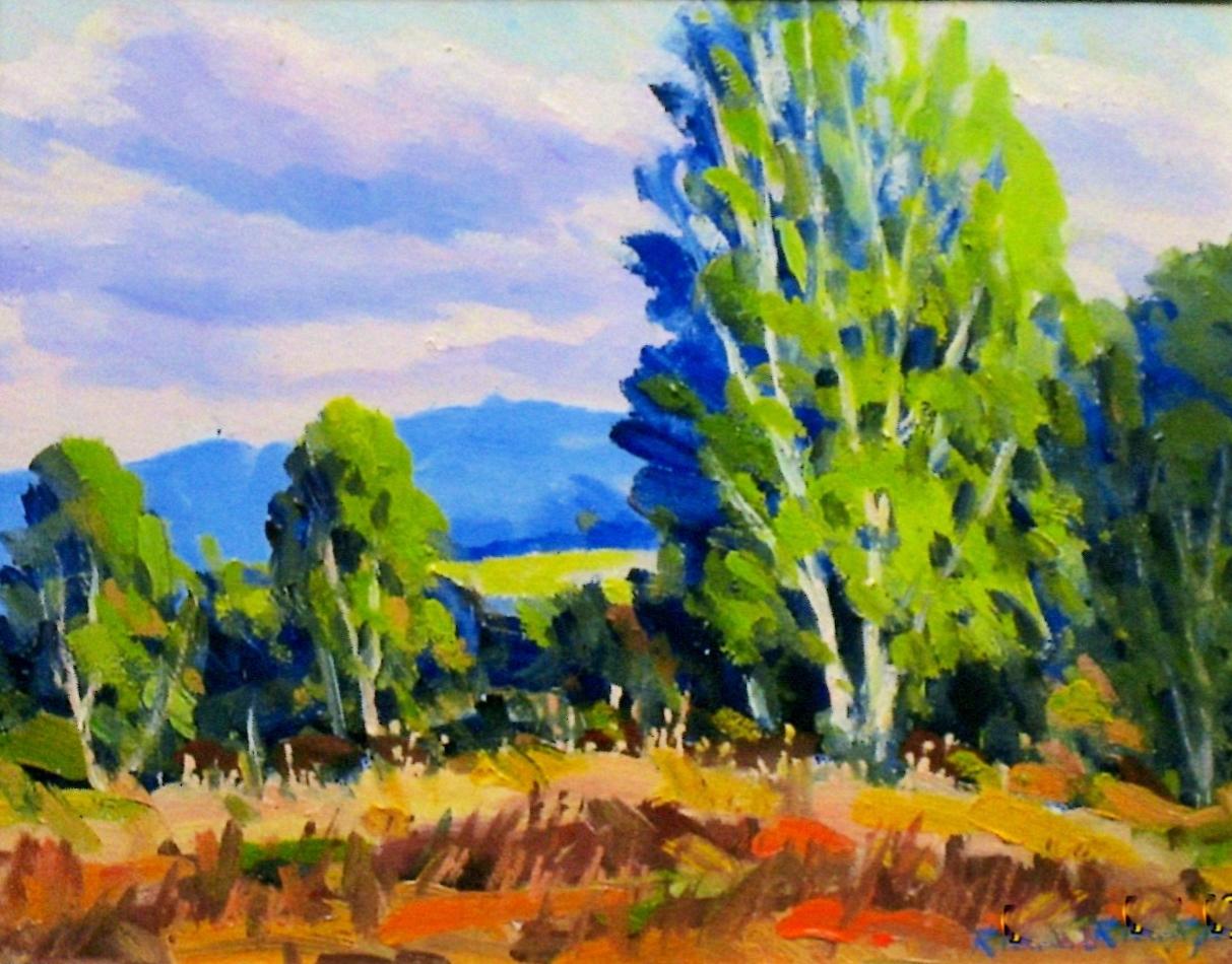 Birches, 8 x 10 Oil