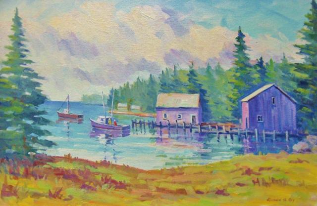 Sea Cove at Corea, Maine, 16 x 24 Oil