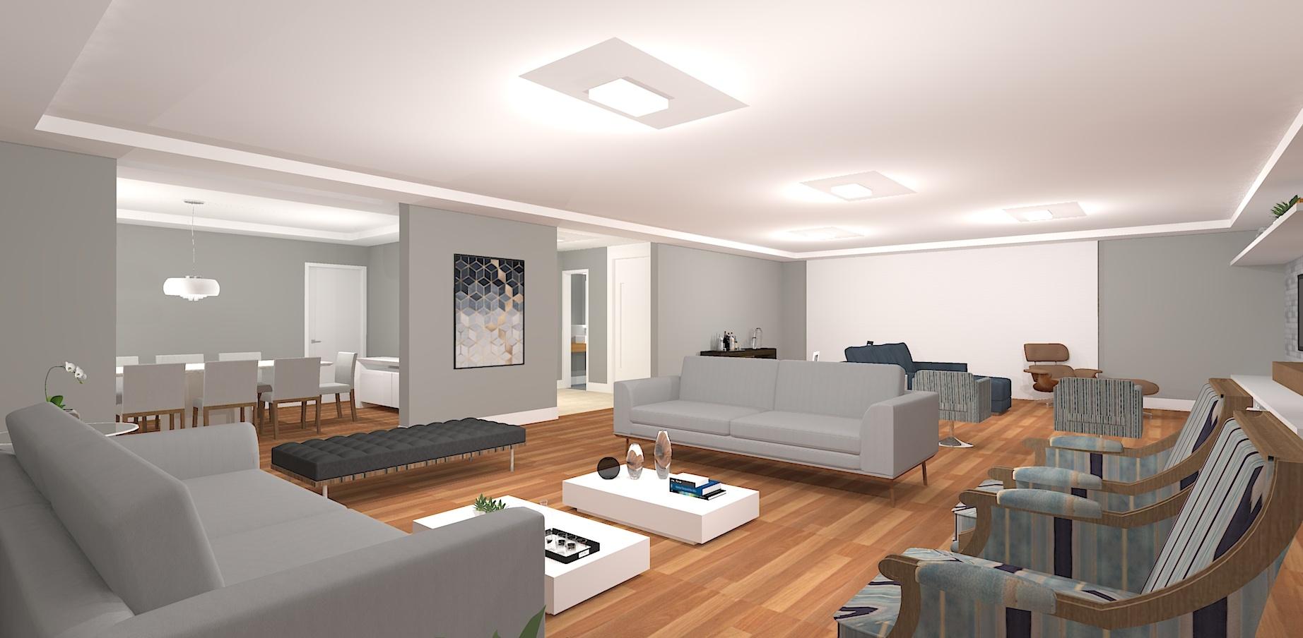 3D/Sala de Estar - Higienopolis
