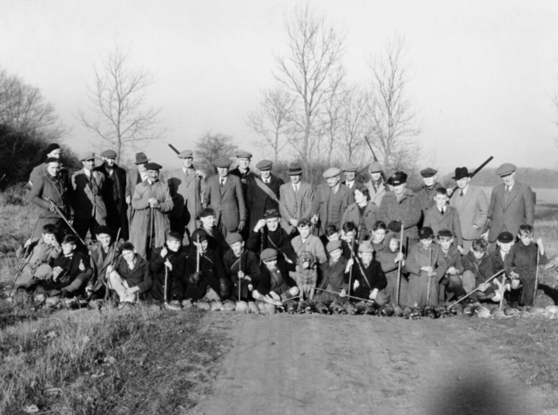 Guns and Beaters at Lackford Shoot December 1942