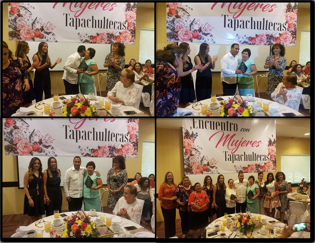 """25/11/2017 La Sra. Elsa Simón Ortega Fundadora y Representante legal de Por la Superación de la Mujer A.C,  estuvo presente en el evento """"ENCUENTRO CON MUJERES TAPACHULTECAS"""" en donde recibió  un reconocimiento por parte del Congreso del Estado de Chiapas, POR LA NOBLE E  IMPORTANTE LABOR PARA LA PROTECCIÓN DE LOS DERECHOS DE LAS MUJERES DE  TAPACHULA. El evento se realizó en Tapachula, Chiapas."""