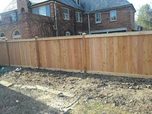 Traditional With Cap Privacy Fence