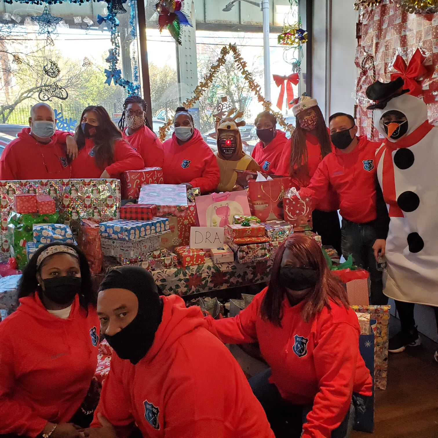 Our Annual Toy Drive was a success due to the volunteering of active and retired officers.