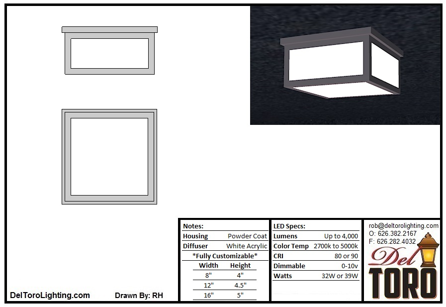 210C-Framed Box Ceiling Mount