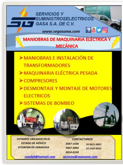 MANIOBRAS DE EQUIPO ELÉCTRICO INDUSTRIAL