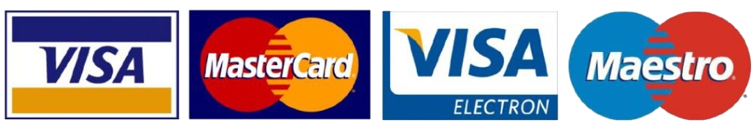 We accept Cash, Personal Checks, Debit Cards, Visa, MasterCard, American Express and Discover.    