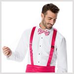 Pink Cummerbund and Suspender
