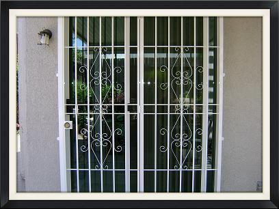 PATIO DOOR GUARD WITH NO SCREEN