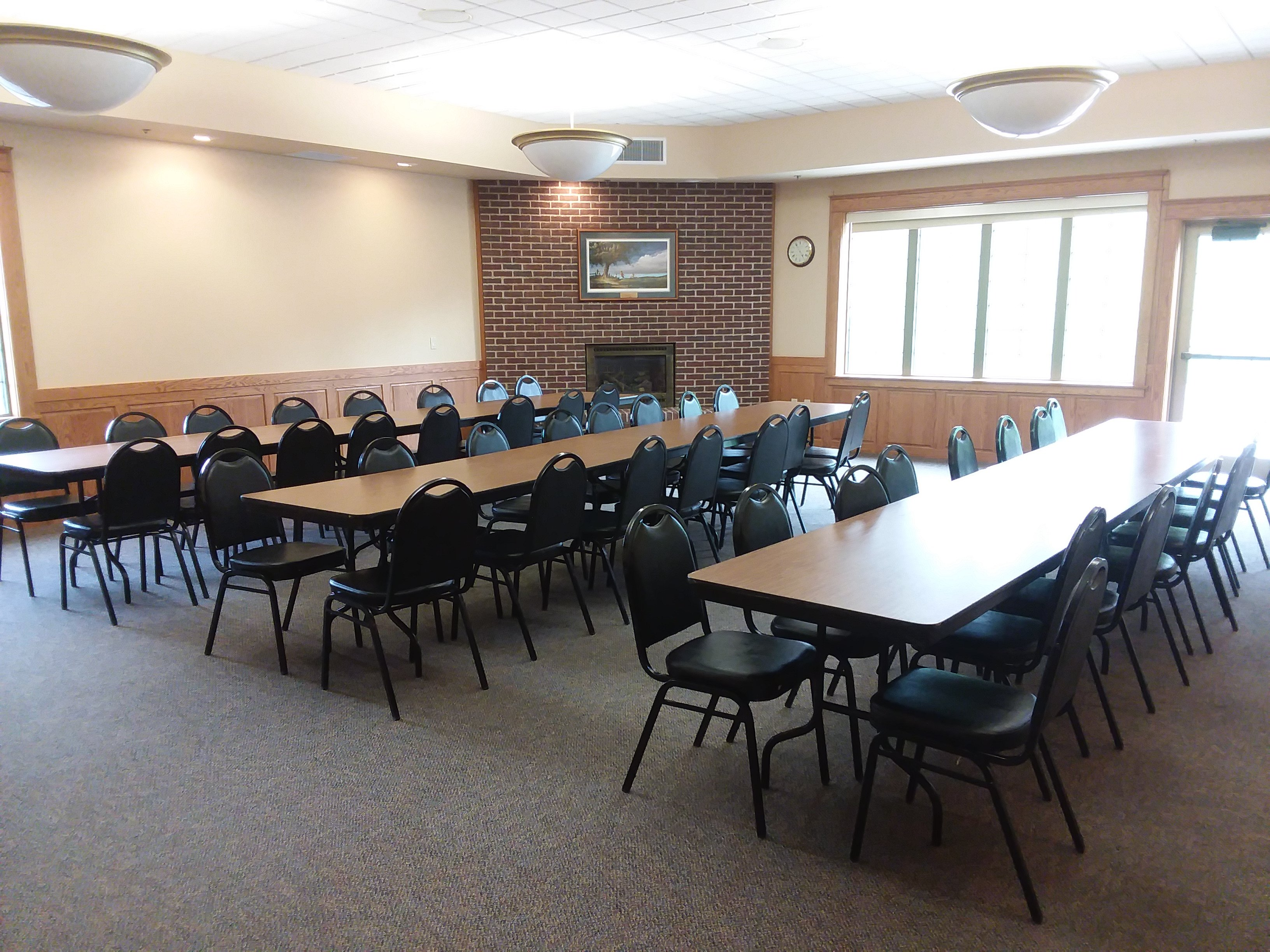 Sprague Room with Table Rows for Meeting