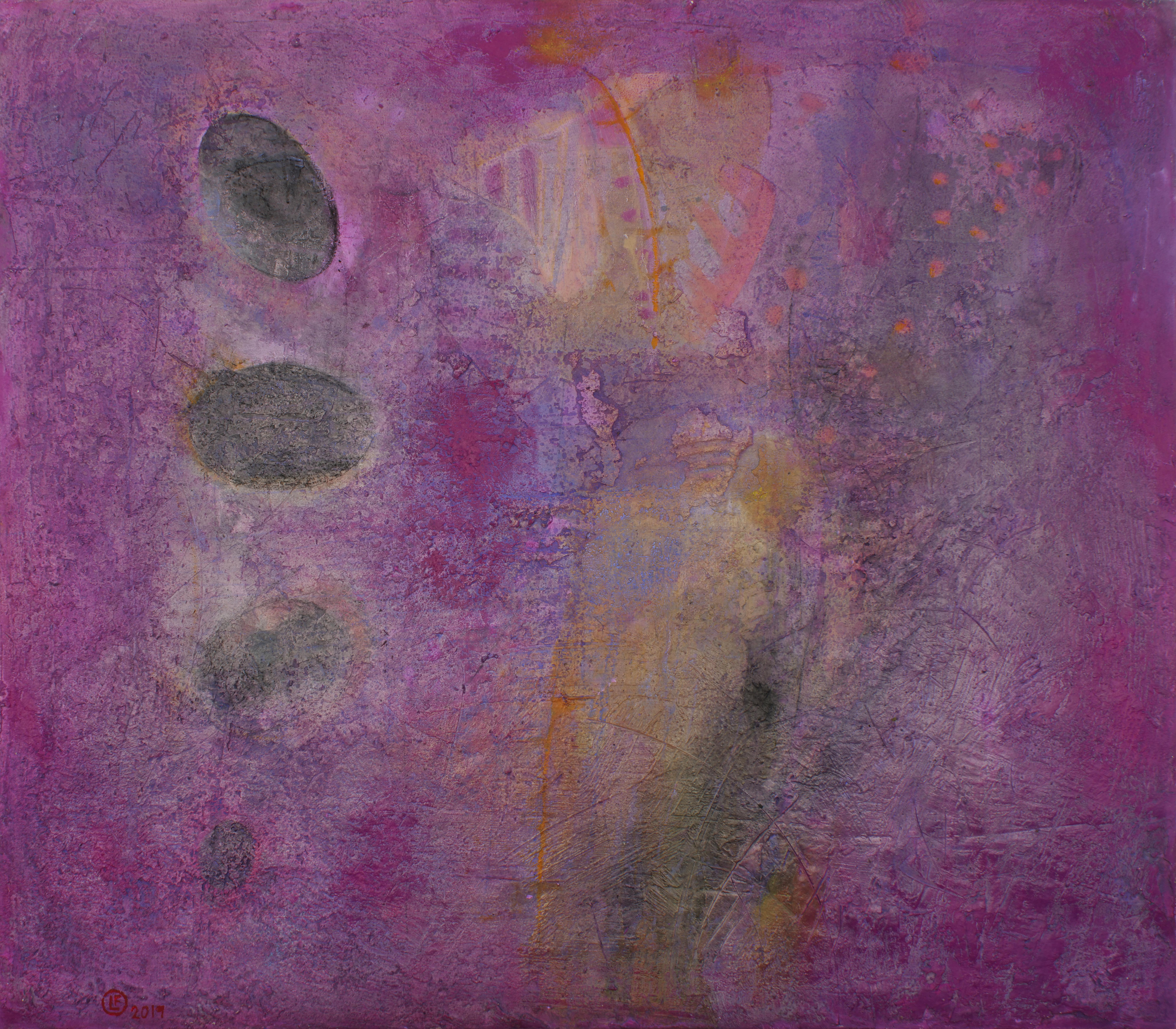 Mundo de Andrómeda óleo s/tela 140 x  160 cms. / 55 x 63 inches