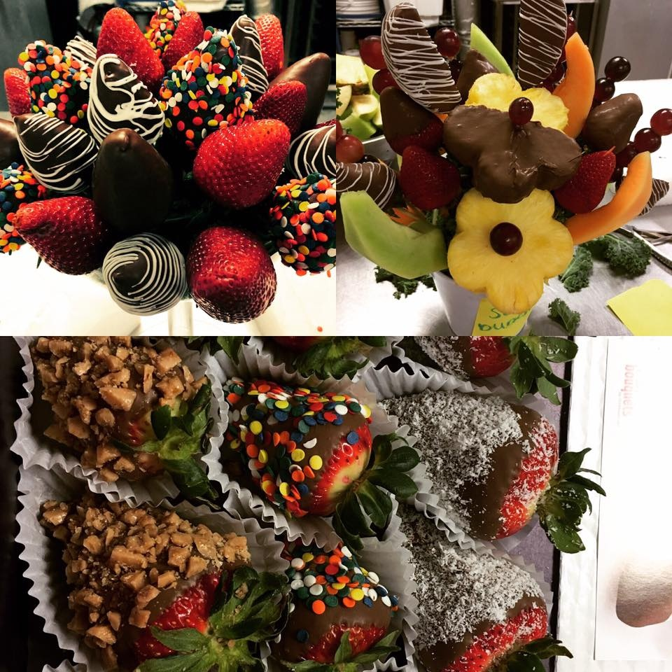 Chocolate Dipped Fruit Arrangements